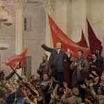 Ленин читает декреты