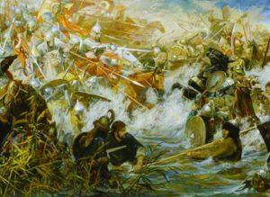 Русские войска занимают позицию на Куликовом поле
