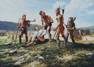 Смит в плену индейцев