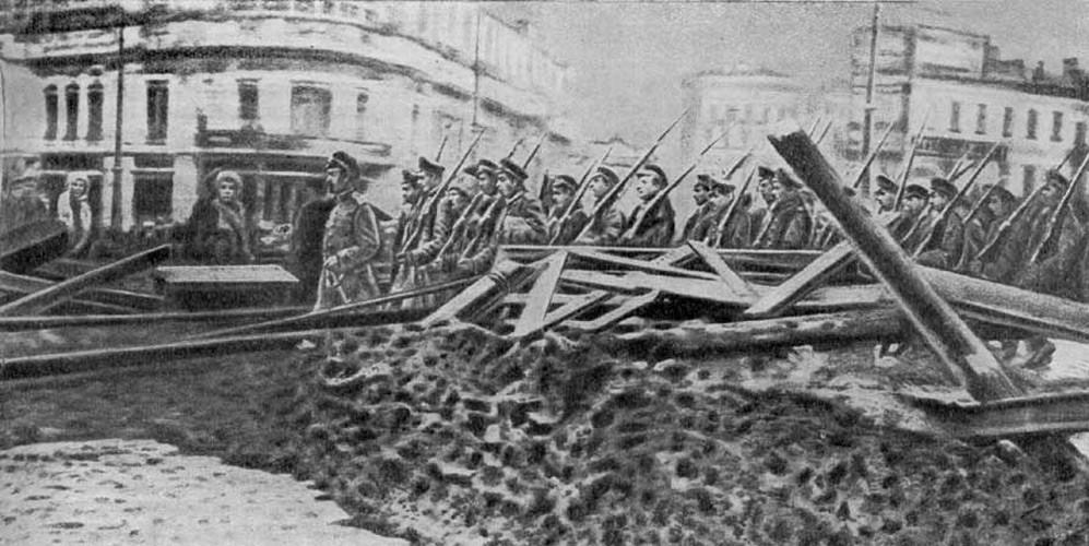 баррикады возле кремля