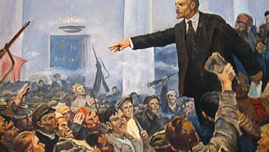 Митингующий Ленин