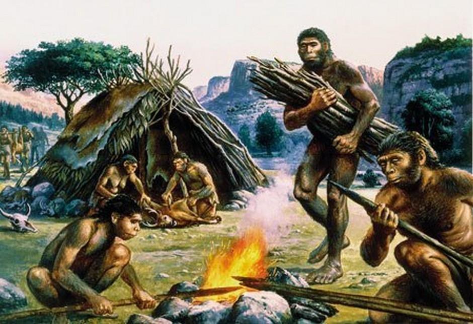 Найти рисунок древнего человека