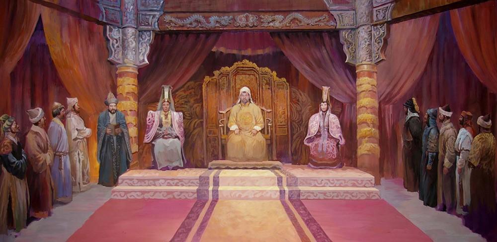 дворец хана трон