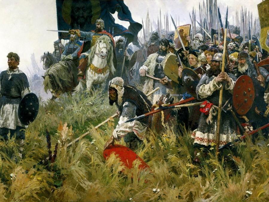 Начало Куликовской битвы