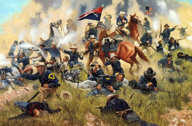 Американские войска на землях индейцев
