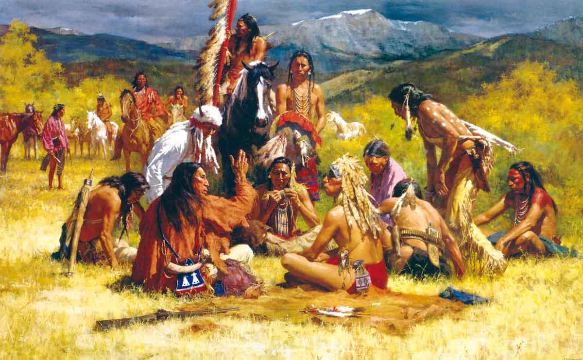 Индейцы на отдыхе