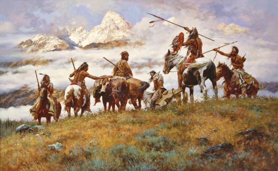 Индейцы с копьями