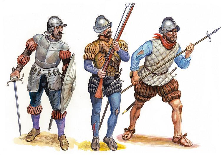 Испанский солдаты 1492 год