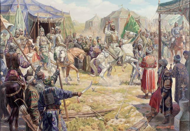 Объединение сил Тамерлана и эмира Хусаина