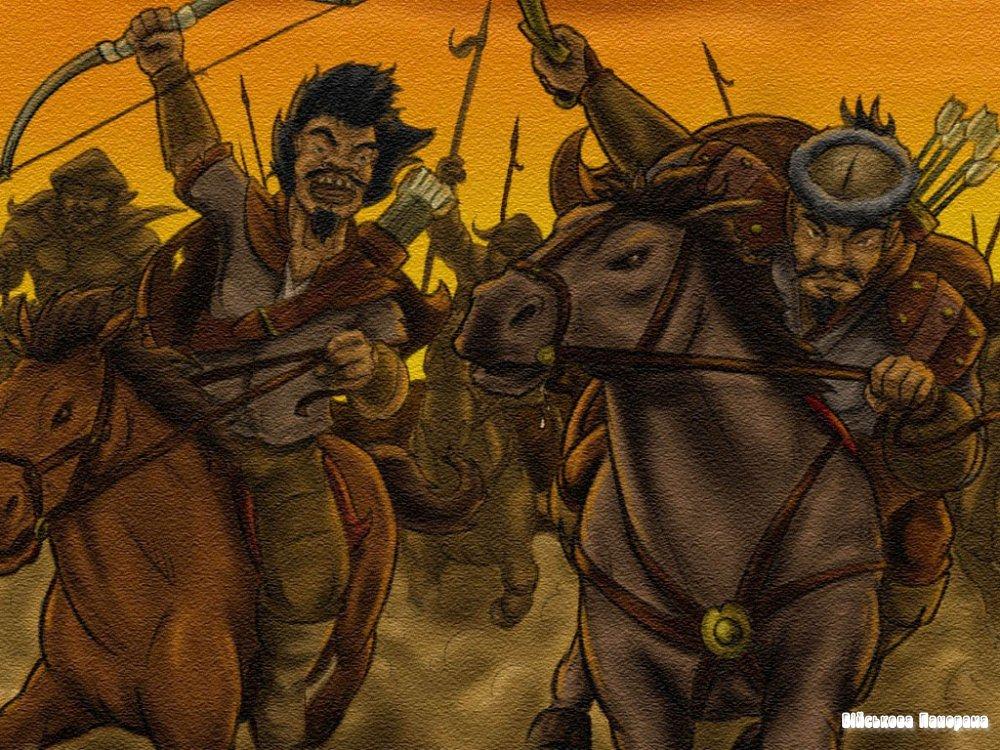 Тохтамыш хан возвращается в Сарай