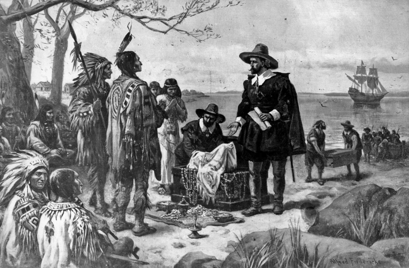 Испанцы отдают сокровища индейцам