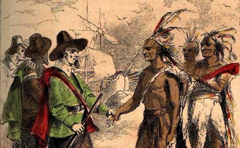 Мирные переговоры индейцев и испанцев