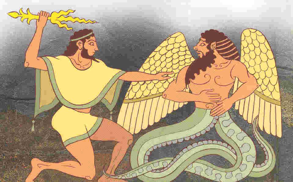 Сражение Зевса и Тифона
