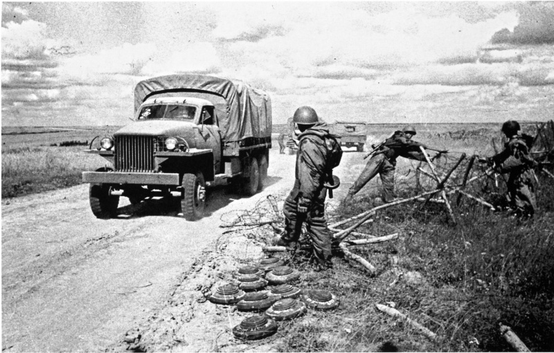 Разминирование дорог 1944 год