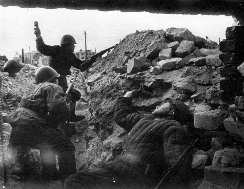 Штурмовая группа советских войск