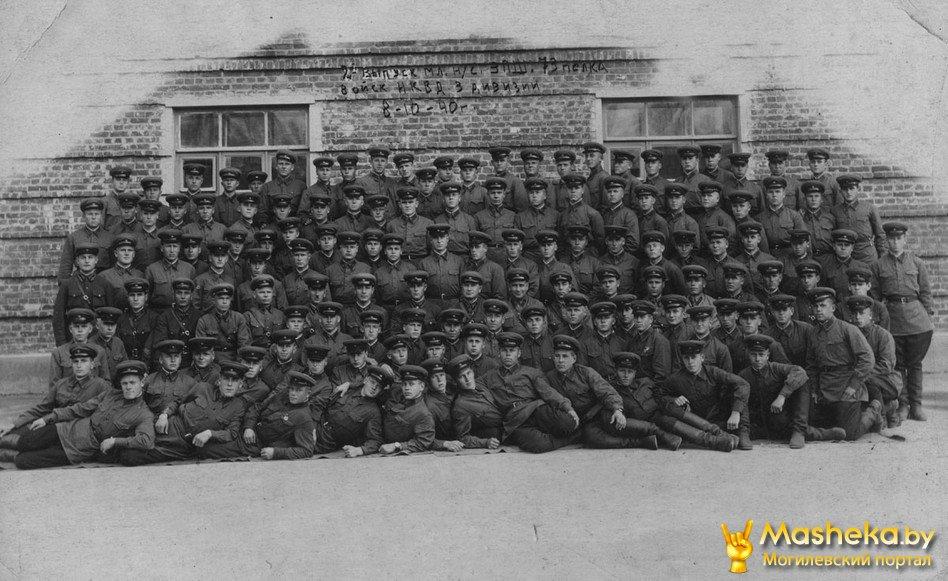 Школа младших командиров перед отправкой на фронт