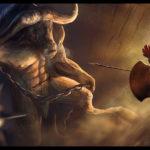 Минотавр - древнее чудовище с головой быка
