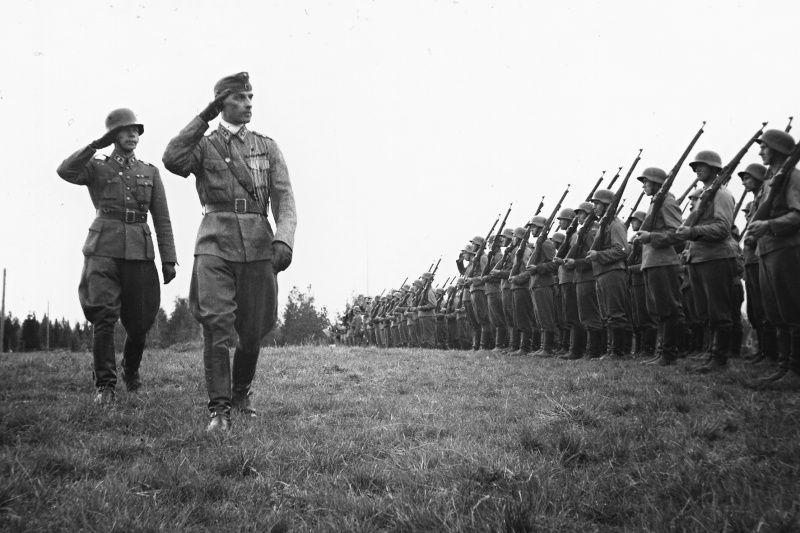 Финский офицер на смотре 1941 год