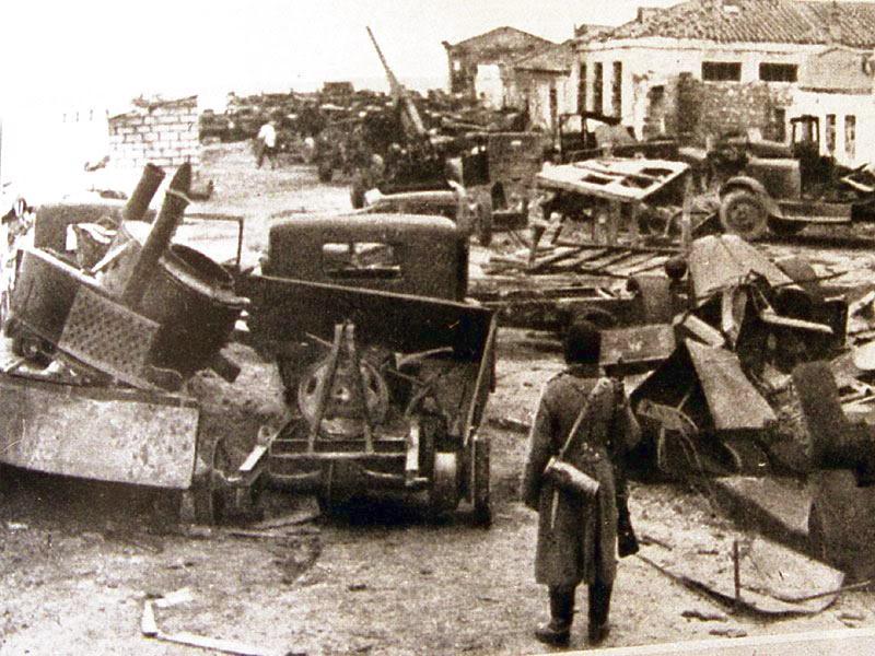 Бои под городом Кезлин