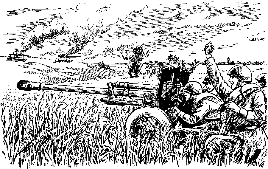 Танковый бой на картофельном поле