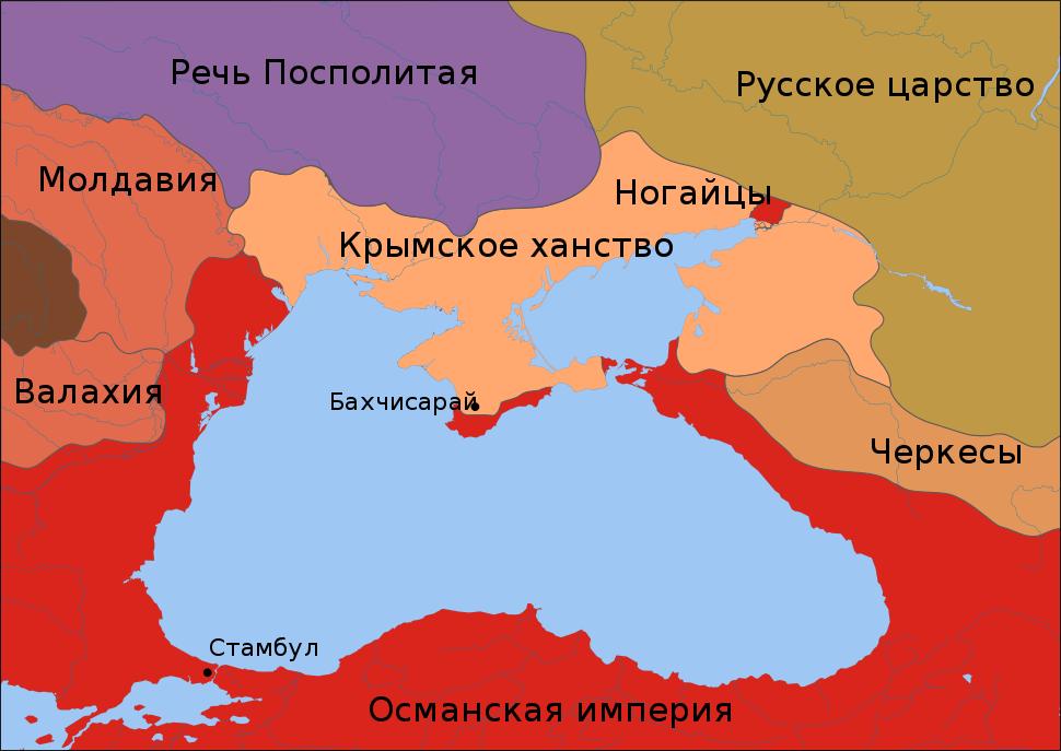 Карта крымского и османского ханства