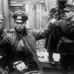 Допрос пленного немца