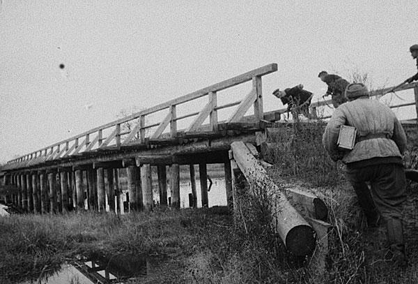 разведчики захватывают мост ВОВ