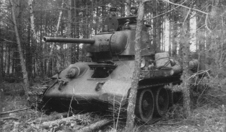 Т-34 в лесу