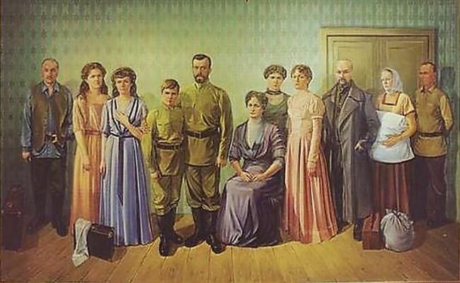 Семья Романовых перед казнью
