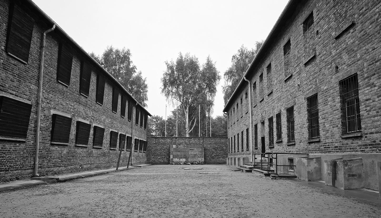 Стена расстрела Освенцим
