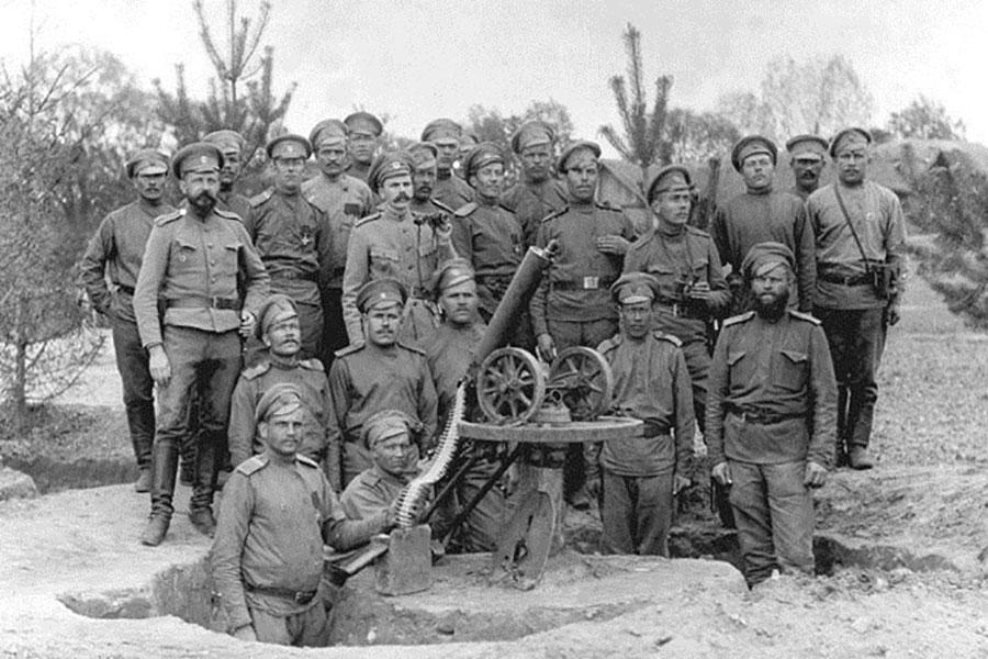 Вывод русских солдат из Первой Мировой войны