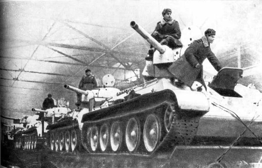 t-34 погрузка танков