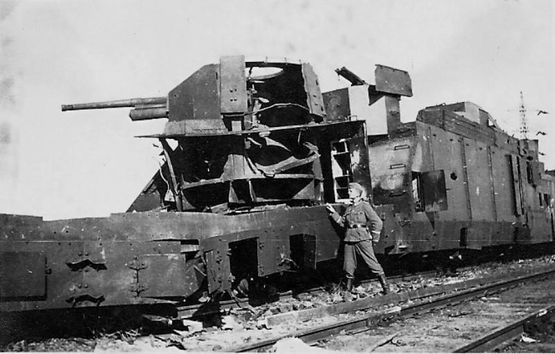 Подбитый бронепоезд №74 ВОВ