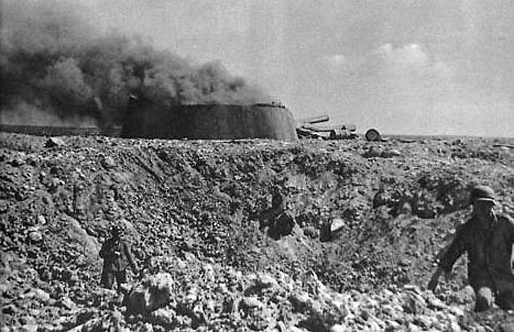Взрыв в немецком дзоте ВОВ