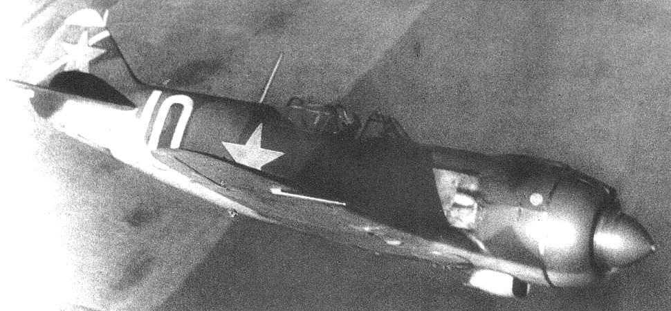 Самолет ЛА-5 в бою