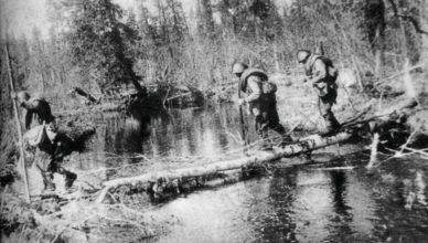 переправа через болото