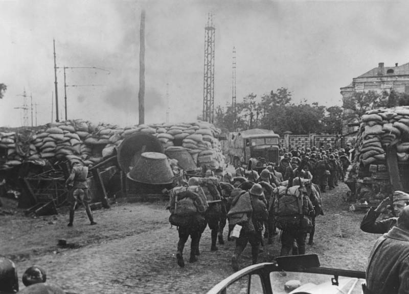 Румыны на марше ВОВ