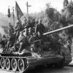 Танковая бригада, прорвавшаяся в глубь немецкой обороны