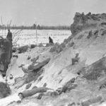 Разрушенный дот зима ВОВ