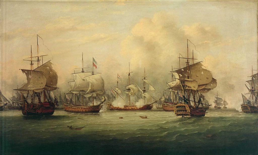 Бой кораблей 18 век