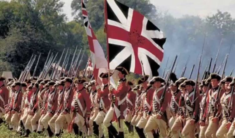 Британская Армия на марше 18 век