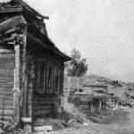 Сгоревшая советская деревня ВОВ