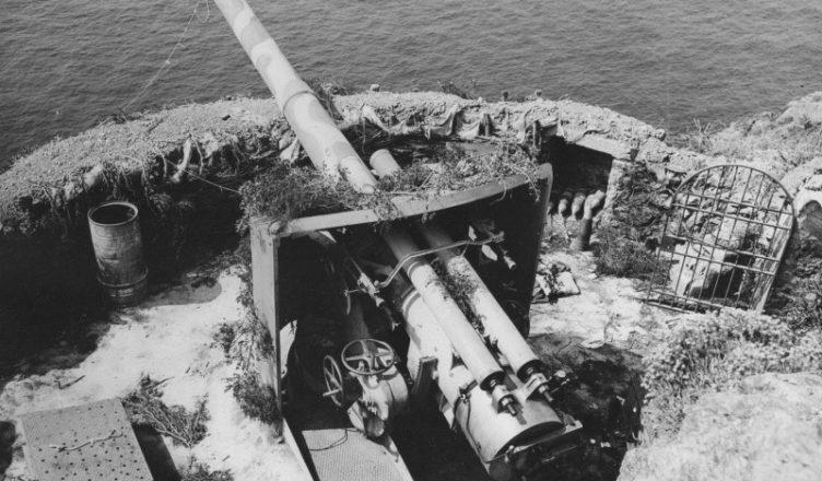 Пушка береговой батареи ВОВ