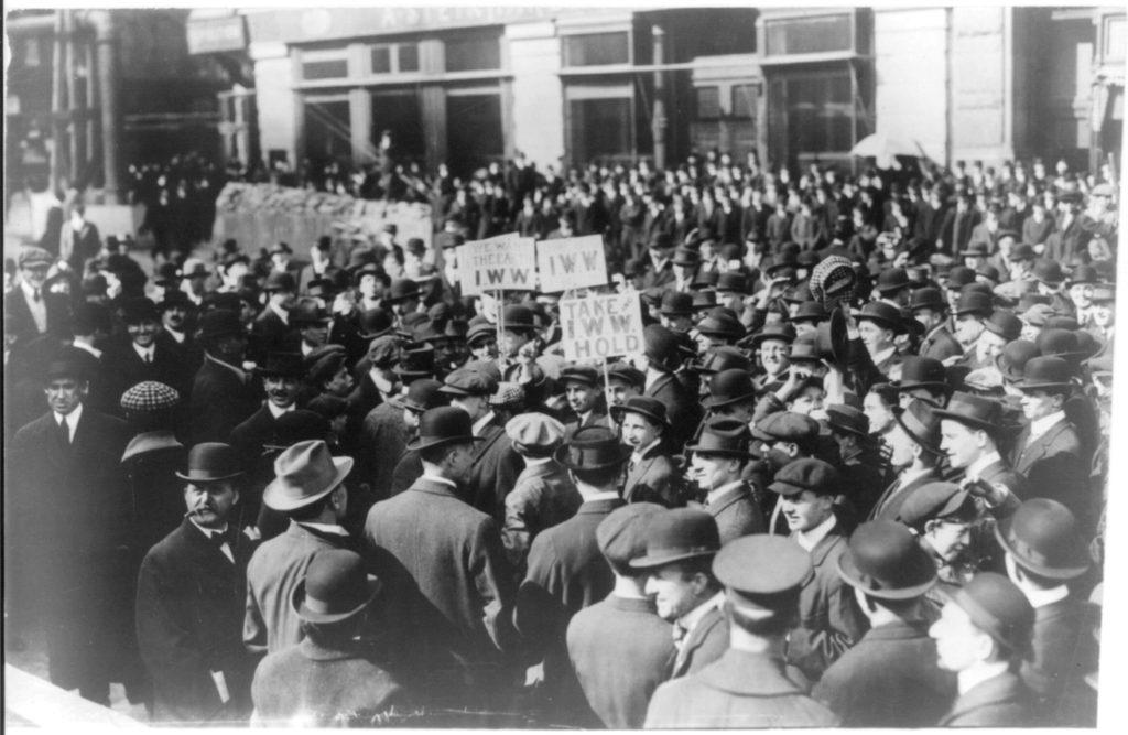 Демонстрация в Нью Йорке 1914 год