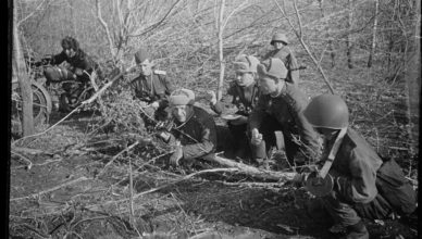 Совещание офицеров в полевых условиях ВОВ
