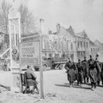 Советский войска в освобожденном полоцке ВОВ