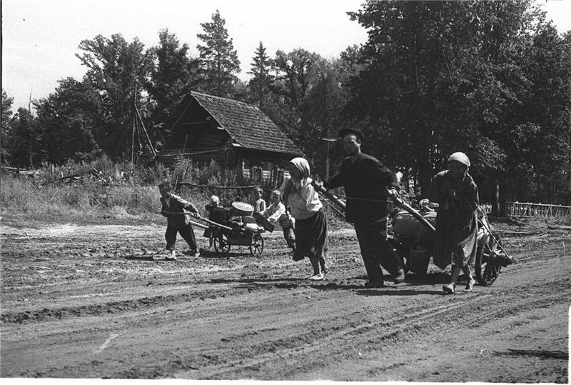 Посевные работы во время войны