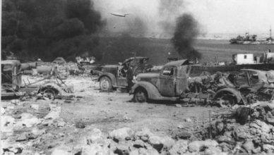 Разбитые машины Невель ВОВ