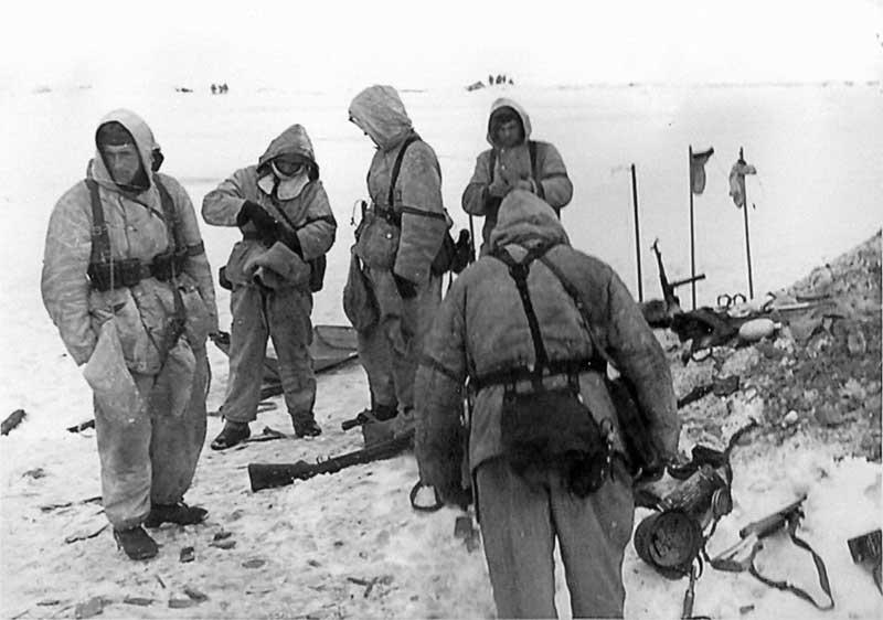 Солдаты зима ВОВ