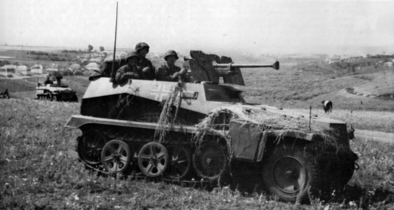 Немцы на бронетраспортере